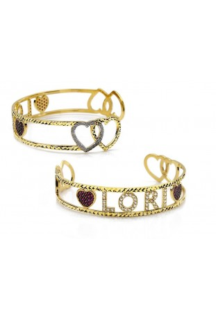 Bracciale Bangle Hearts...